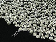 34100-15 Стразы  серебристые, диаметр ~ 6,5 мм, вес ~ 50 гр (~ 1000 шт)