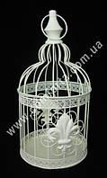 34103 Королевская лилия, клетка металлическая декоративная, размеры ~ 33 см х 16 см