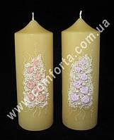 31562 Свадебный букет, семейный очаг, свеча парафиновая