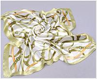 Полосатый шифоновый платок. Качественный. Обладает уникальным приятным умеренным блеском.  Недорого. Код: КГ9