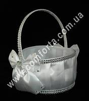 33555 Сияние камней, корзинка для лепестков белая (высота - 22 см, диаметр - 18 см)