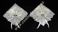 33559 Сердечки, набор платочков для венчания белый (2 шт)