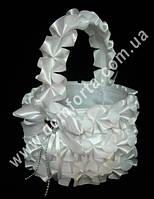 33551 Рюш, корзинка для лепестков белая (высота - 27 см, диаметр - 21 см)