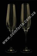 34014 PL Harmony,  набор бокалов для шампанского без декора (2 шт), высота ~ 25,5 см, объем ~ 200 мл