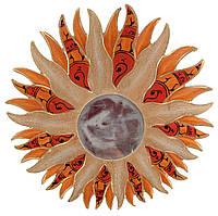 Зеркало на стену деревянное Солнце