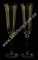 29208 CZ Angela, набор бокалов для шампанского без декора (2 шт), высота ~ 25 см, объем ~ 190 мл