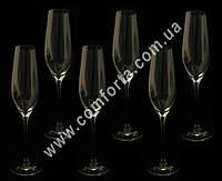 31585-06 SK Prestige, набор бокалов для шампанского без декора (6 шт), высота ~ 25,5 см, объем ~ 210 мл
