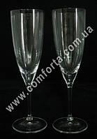 26179 CZ Kate, набор бокалов для шампанского без декора (2 шт), высота ~ 23 см, объем ~ 220 мл