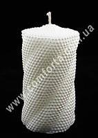 31848 Волна жемчужная белая, h ~ 14 см, d ~ 8 см, свеча свадебная семейный очаг