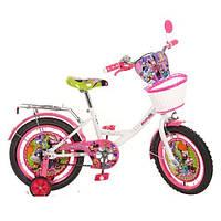 Детский двухколесный велосипед,16 дюймов (арт MI166B) Минни Маус, бело-розовый