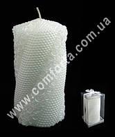 33017 Розочки и жемчуг, высота ~ 16 см, свеча свадебная семейный очаг