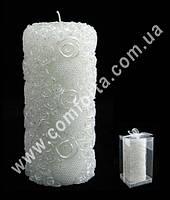 33019 Жемчужные сердца, высота ~ 15 см, свеча свадебная семейный очаг