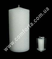 33439 Жемчужная, высота - 15 см, свадебная свеча семейный очаг
