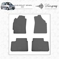 Резиновые коврики Chevrolet Spark 2004-(передние)