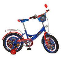 Детский двухколесный велосипед,16 дюймов (арт MH162) Герои, сине-красный