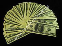 100 долларов, сувенирные деньги для выкупа невесты (~ 80 купюр)