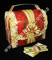 34055 Казна, свадебный сундучок для денег, размеры ~ 32 см х 31см х 17 см