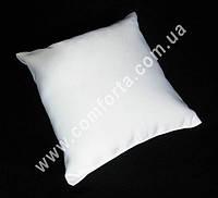 34050 Заготовка свадебной подушечки для колец белая, матовый атлас, размеры ~ 16 см х 16 см