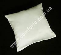 34050-01 Заготовка свадебной подушечки для колец кремовая, матовый атлас, размеры ~ 16 см х 16 см
