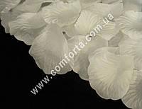 32470 Лепестки роз прессованные белые натуральные (~ 130 шт, ~ 14 г), декор искусственный