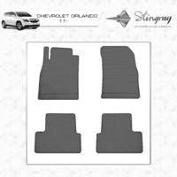 Резиновые коврики Chevrolet Orlando 2011- (передние)