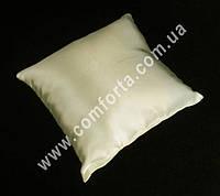 33969-01 Заготовка свадебной подушечки для колец кремовая, атлас, размеры ~ 16 см х 16 см