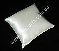 33969 Заготовка свадебной подушечки для колец белая, атлас, размеры ~ 16 см х 16 см
