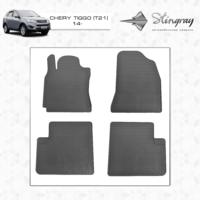 Резиновые коврики Chery Tiggo T21 2014- (передние)
