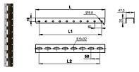 Планка кронштейна 1500 (2620068)