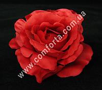 25555-11 Головка розы красная, диаметр ~ 10 см, цветок искусственный