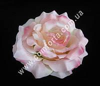 33144-04 Головка розы нежно-розовая, диаметр ~ 13 см, цветок искусственный
