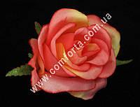 33155-04 Головка розы маленькая ярко-розовая, d-6см, цветок искусственный