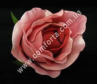 33154-04 Головка розы розовая, диаметр ~ 8 см, цветок искусственный
