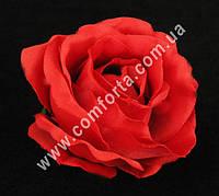 33154-12  Головка розы красная, диаметр ~ 8 см, цветок искусственный