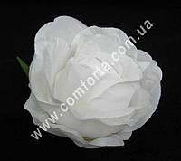 33154-15 Головка розы белая, диаметр ~ 8 см, цветок искусственный