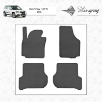 Резиновые коврики Skoda Yeti 2009- (передние)