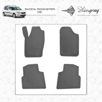 Резиновые коврики Skoda Roomster 2006-(передние)