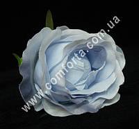 33154-13 Головка розы нежно-голубая, диаметр ~ 8 см, цветок искусственный