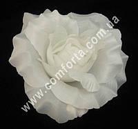 33399 Головка розы белая (диаметр - 11 см), цветок искусственный