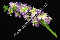 33445 Головка дельфиниума, h-25 см, цветок искусственный