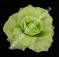 33399-09 Головка розы зеленой (диаметр - 11 см), цветок искусственный