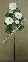 33851 Ветка пиона белого (5 голов), высота ~ 120 см, цветок искусственный