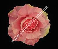 33399-04 Головка розы розовая (диаметр ~ 11 см), цветок искусственный