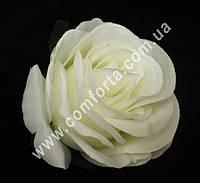 34029-01 Головка розы кремовая, диаметр ~ 6 см, цветок искусственный