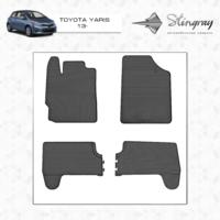 Коврики в салон для Toyota Yaris 2013-