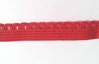 Резинка кружевная М-004 красная
