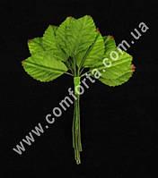 33933 Листики маленькие на проволочке (12 шт), зелень искусственная