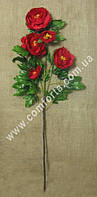 33851-11 Ветка пиона красного (5 голов), высота ~ 120 см, цветок искусственный