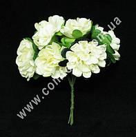 26170-01 Декоративный букетик (6 шт) кремовый, размеры 1 головки ~ 3 см (диаметр) х 3 см (высота)