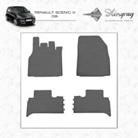 Резиновые коврики Renault Scenic III 2009-